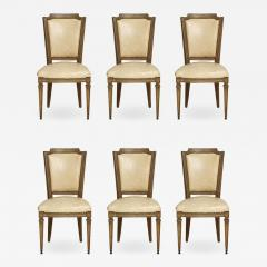 Vintage Set of Six Louis XVI Style Painted Dining Room Chairs - 2068845