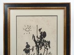 Vintage Signed Lithograph Don Quixote Of Pablo Picasso  - 944583