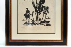 Vintage Signed Lithograph Don Quixote Of Pablo Picasso  - 944584