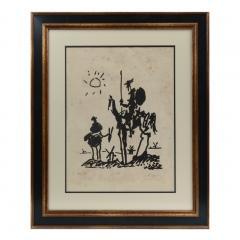 Vintage Signed Lithograph Don Quixote Of Pablo Picasso  - 944594