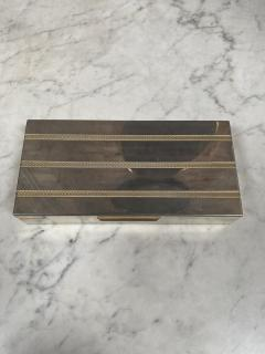 Vintage Silver and Gold Box Italy 1970s - 2074768