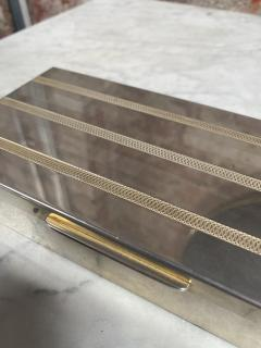 Vintage Silver and Gold Box Italy 1970s - 2074770