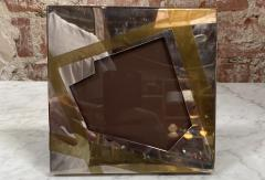 Vintage Small Chrome and brass Picture Frame Italy 1970 - 2078247