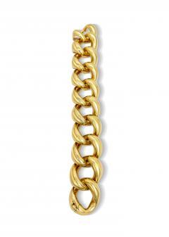 Vintage Solid 18K Gold Link Bracelet - 2057636