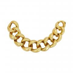 Vintage Solid 18K Gold Link Bracelet - 2089380