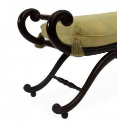 Vintage Splayed Leg Caned Seat Bench - 1312295