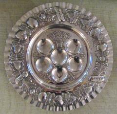 Vintage Sterling Silver Seder Plate - 1178708