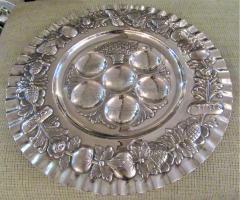 Vintage Sterling Silver Seder Plate - 1178710
