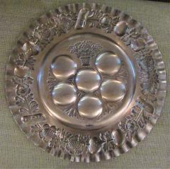 Vintage Sterling Silver Seder Plate - 1178713