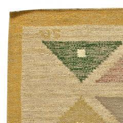 Vintage Swedish Flat Weave Rug by Sigvard Bernadette - 485739