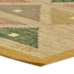 Vintage Swedish Flat Weave Rug by Sigvard Bernadette - 485741