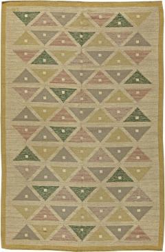 Vintage Swedish Flat Weave Rug by Sigvard Bernadette - 485744