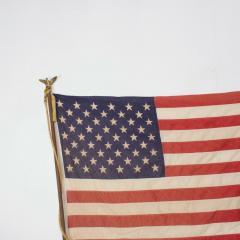 Vintage USA American FLAG 50 Star Stars Stripes on Eagle Flag Pole - 1504294
