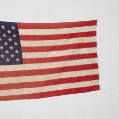 Vintage USA American FLAG 50 Star Stars Stripes on Eagle Flag Pole - 1504295