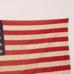 Vintage USA American FLAG 50 Star Stars Stripes on Eagle Flag Pole - 1504296