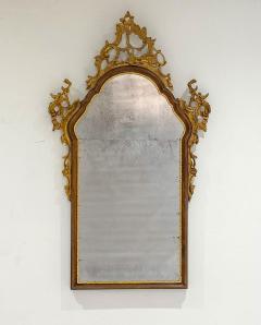 Vintage Venetian Mirror with Gilding Antiqued Glass Italy Circa 1950 - 1684325