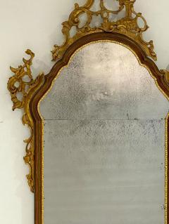 Vintage Venetian Mirror with Gilding Antiqued Glass Italy Circa 1950 - 1684326