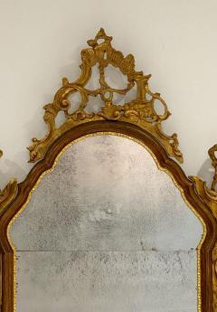 Vintage Venetian Mirror with Gilding Antiqued Glass Italy Circa 1950 - 1684328