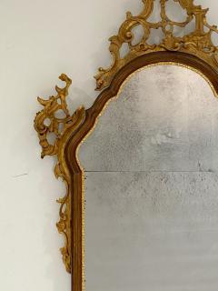 Vintage Venetian Mirror with Gilding Antiqued Glass Italy Circa 1950 - 1684329