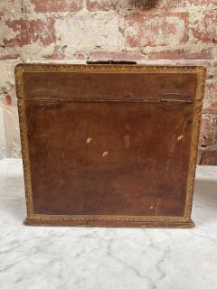 Vintage leather Bar set Italy 1950s - 2078295