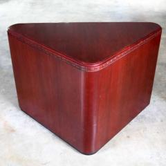 Vintage pair of mahogany triangular end tables or pedestals - 1682196