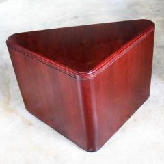 Vintage pair of mahogany triangular end tables or pedestals - 1682197