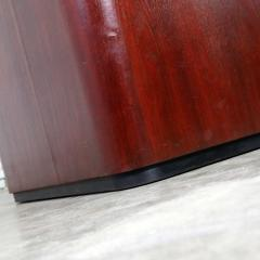 Vintage pair of mahogany triangular end tables or pedestals - 1682217