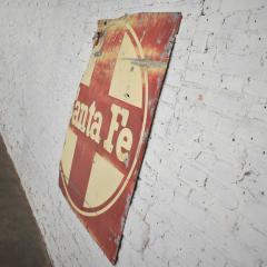 Vintage primitive rustic extra large santa fe railroad metal sign - 1588925