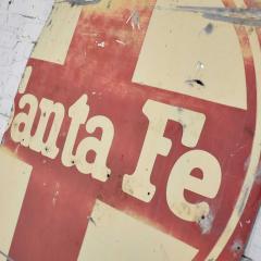 Vintage primitive rustic extra large santa fe railroad metal sign - 1588926