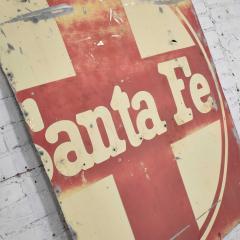 Vintage primitive rustic extra large santa fe railroad metal sign - 1588927