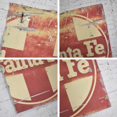 Vintage primitive rustic extra large santa fe railroad metal sign - 1588934