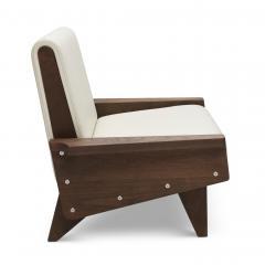 Visilek Furniture LLC Babylon Midcentury Inspired Walnut Lounge Chair - 998569
