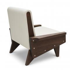 Visilek Furniture LLC Babylon Midcentury Inspired Walnut Lounge Chair - 998570