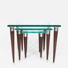 Visilek Furniture LLC Mezzo Glass Nesting Tables - 948242