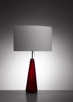 Vistosi red glass table lamp - 1449794