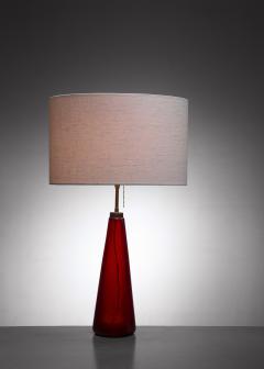 Vistosi red glass table lamp - 1449800