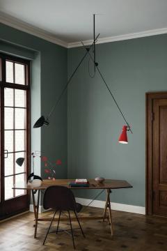 Vittoriano Vigano Vittoriano Vigan VV Suspension Lamp in Black and Brass - 930582