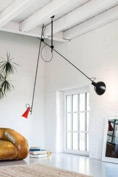 Vittoriano Vigano Vittoriano Vigan VV Suspension Lamp in Black and Brass - 930583