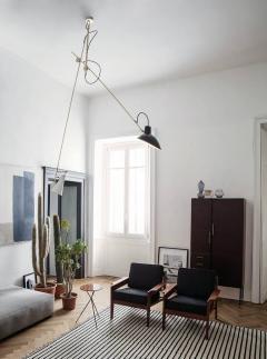 Vittoriano Vigano Vittoriano Vigan VV Suspension Lamp in Black and Brass - 930584