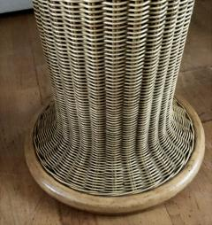 Vittorio Bonacina Late 60s Pair of Side Table in Wood and Rattan - 1210000