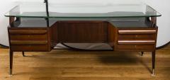 Vittorio Dassi Italian Mid Century Floating Glass Executive Desk by Vittorio Dassi - 1677354