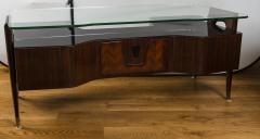 Vittorio Dassi Italian Mid Century Floating Glass Executive Desk by Vittorio Dassi - 1677357