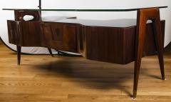 Vittorio Dassi Italian Mid Century Floating Glass Executive Desk by Vittorio Dassi - 1677359