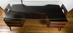 Vittorio Dassi Italian Mid Century Floating Glass Executive Desk by Vittorio Dassi - 1677363