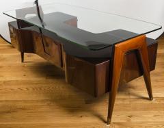 Vittorio Dassi Italian Mid Century Floating Glass Executive Desk by Vittorio Dassi - 1677364