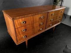 Vittorio Dassi Italian Modern Mahogany and Bronze 6 Drawer Chest Vittorio Dassi - 1463981