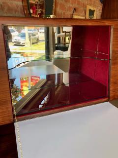 Vittorio Dassi Italian Walnut Bar Cabinet by Vittorio Dassi 1950s - 1070142