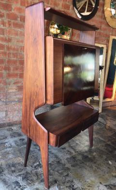 Vittorio Dassi Italian Walnut Bar Cabinet by Vittorio Dassi 1950s - 1070149