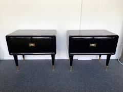 Vittorio Dassi Pair of Lacquered and Bronze End Tables by Vittorio Dassi Italy 1950s - 972403