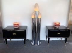 Vittorio Dassi Pair of Lacquered and Bronze End Tables by Vittorio Dassi Italy 1950s - 972409